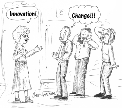 Cartoon: Innovation = Change