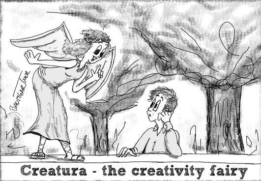 Cartoon: Creatura, the creativity fairy