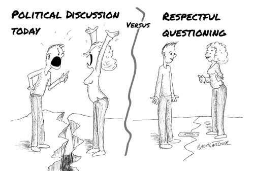 Cartoon: Respectful Questioning