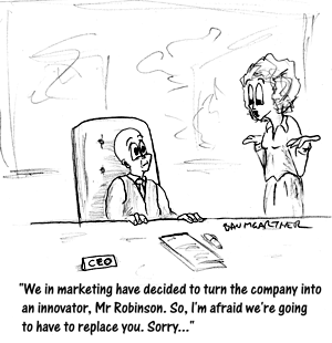 Cartoon: employee fires CEO