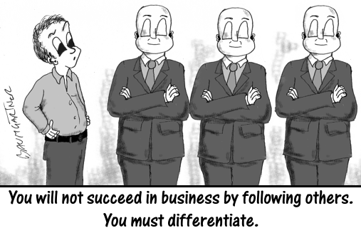 Cartoon: Differentiation Demands Diverse Thinking