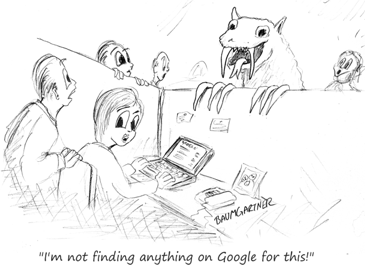 Cartoon: Google doesn't have a solution to this problem