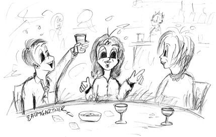 Cartoon - ideas in a pub
