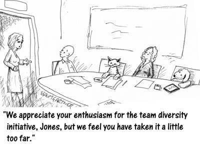 Cartoon: Leading Diverse Teams