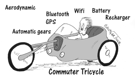 cartoon: creative tricycle concept