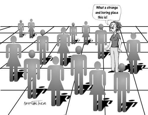 Cartoon: The Importance of Standing Out from the Crowd