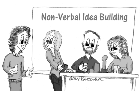 Cartoon: Non-Verbal Idea Building Workshop