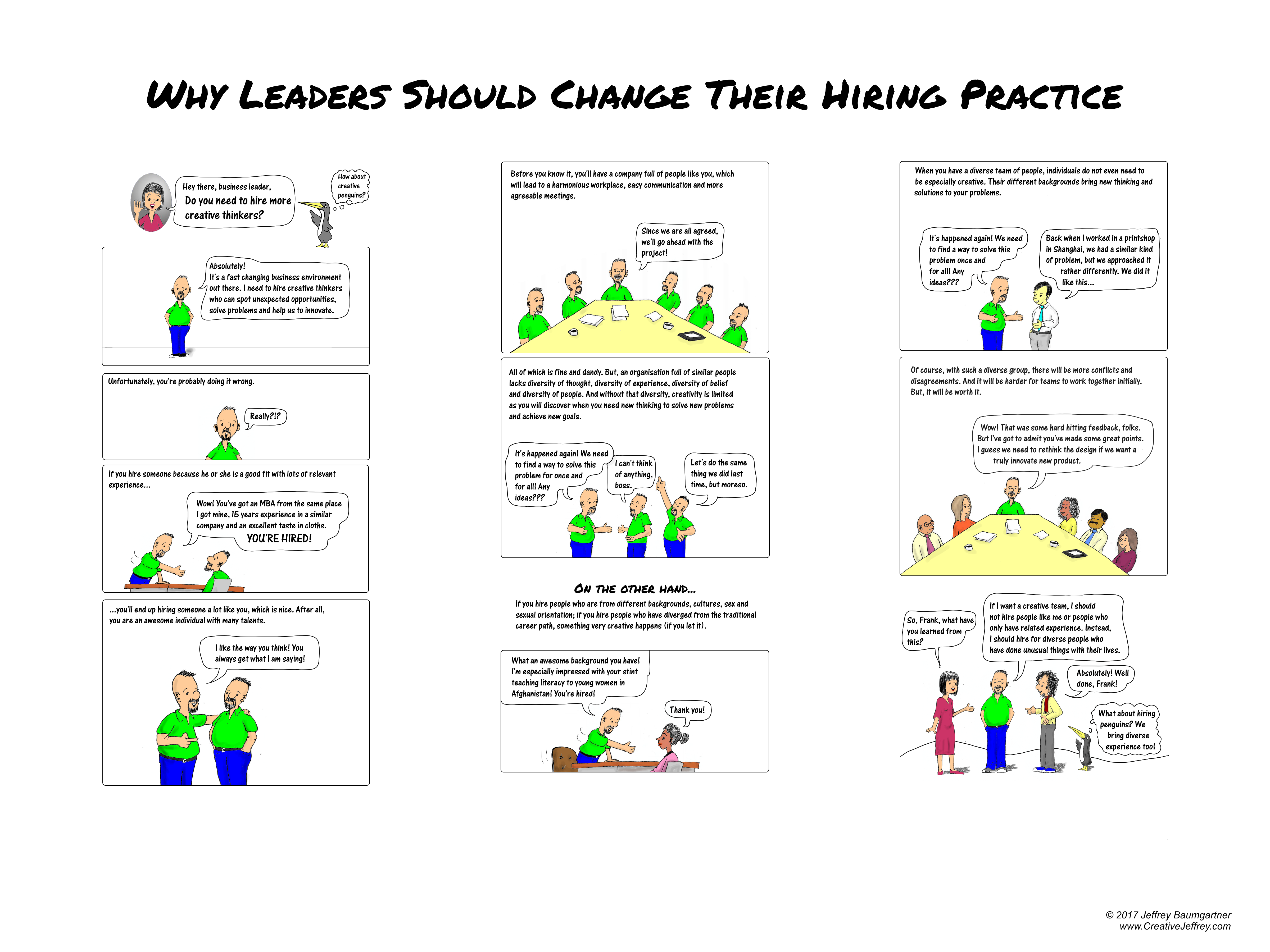 Poster: why leaders should change their usual hiring practice