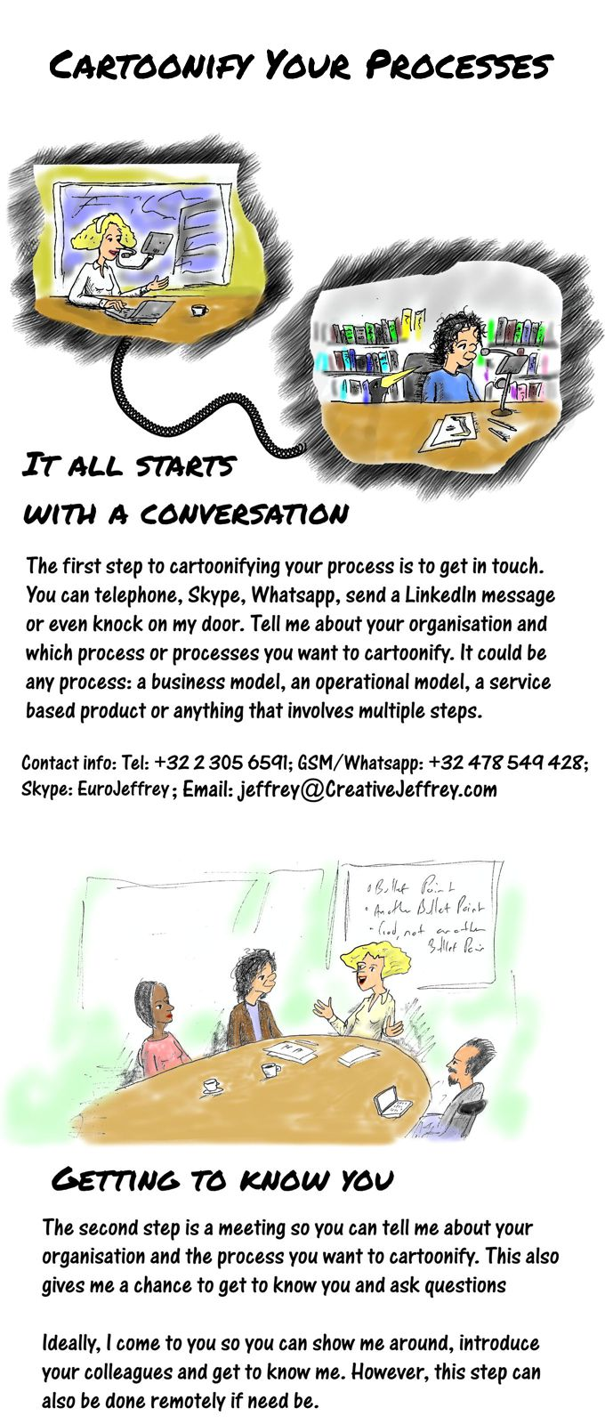 Cartoon story: cartoonify your processes part 1