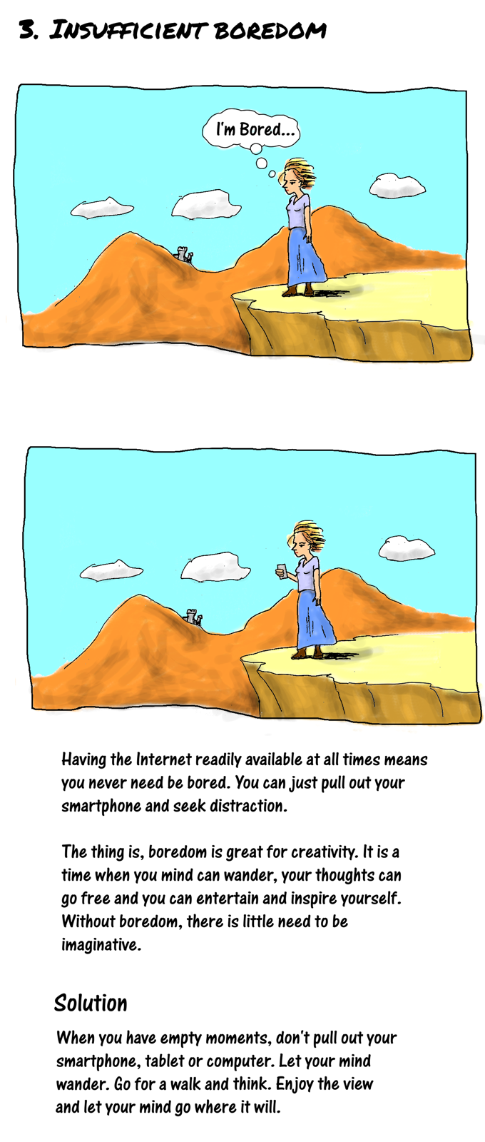 Cartoon story: how the Internet crushes creativity and what you can do about it: part 4