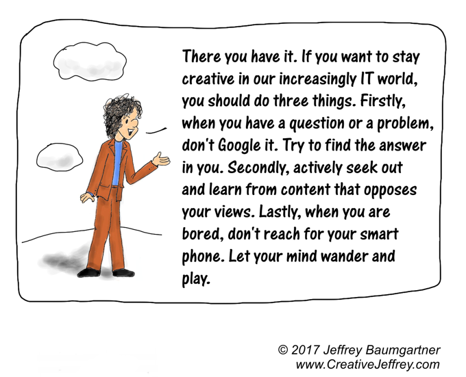 Cartoon story: how the Internet crushes creativity and what you can do about it: part 5